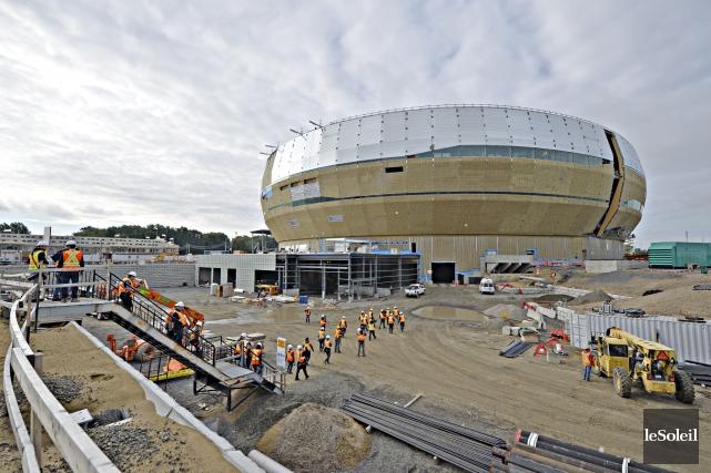 Le futur amphithéâtre de Québec... (Photothèque Le Soleil, Pascal Ratthé)