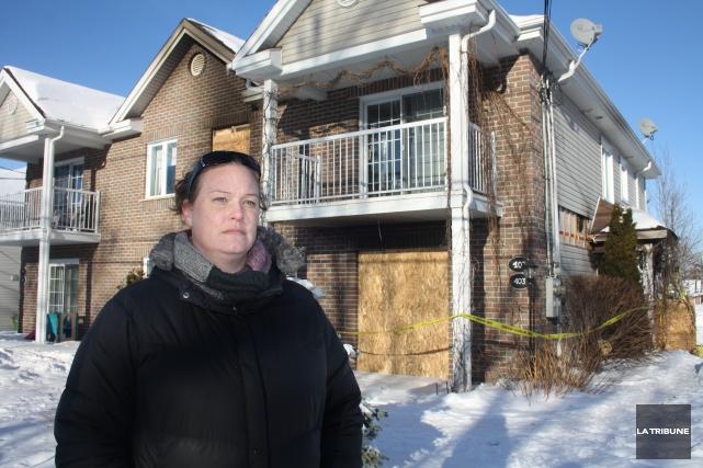 Shannon Greenwood habitait au rez-de-chaussée de l'immeuble où... (La Tribune, Jean-François Gagnon)