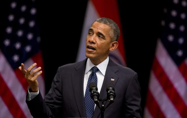 Barack Obama... (PHOTO SAURABH DAS, ASSOCIATED PRESS)