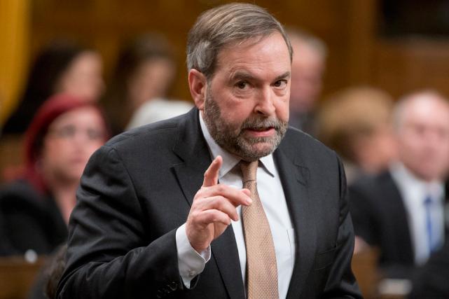 Le chef de l'opposition officielle, Thomas Mulcair, a... (PHOTO LA PRESSE CANADIENNE)