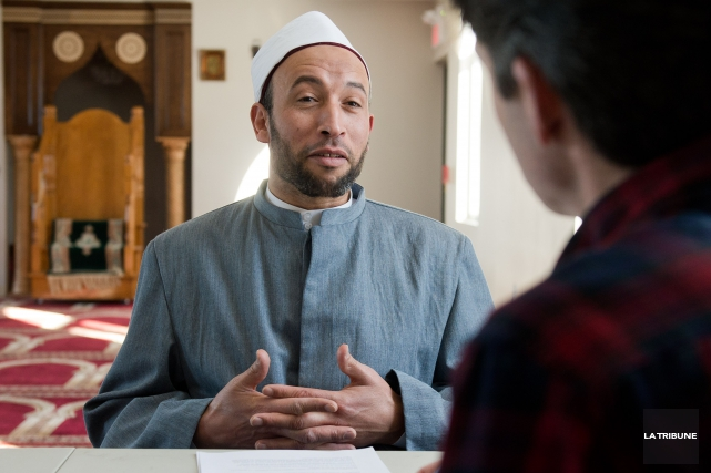 Cheik Mohammad Salah,imamde la mosquée sherbrookoise... (Imacom, Jessica Garneau)