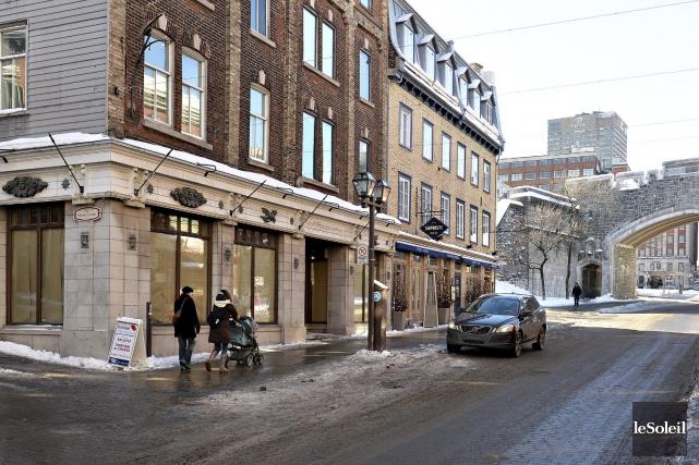 Le Château Entrepôt a fermé ses portes rue... (Le Soleil, Patrice Laroche)