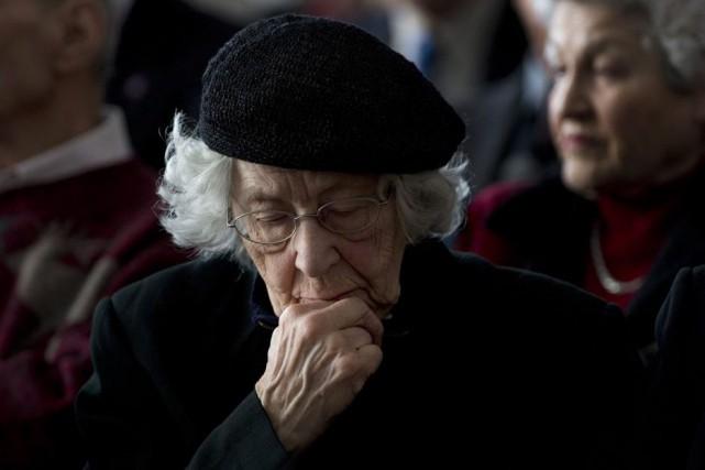 Ruth Katz a participé à la cérémonie tenue... (Adrian Wyld, La Presse Canadienne)