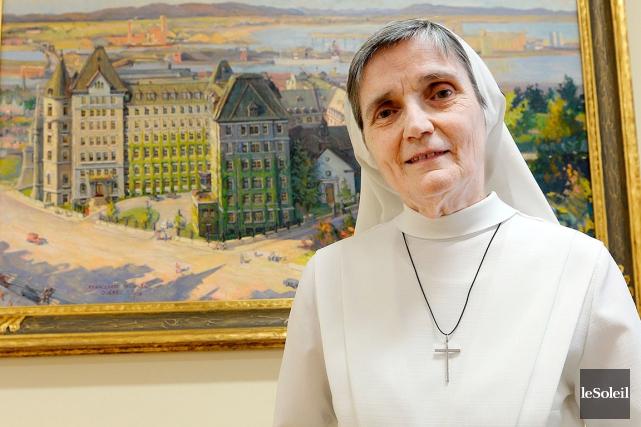 La soeur supérieure du Monastère des Augustines, Berthe... (Le Soleil, Erick Labbé)