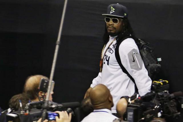 Marshawn Lynch, l'un des joueurs des Seahawks deSeattle, n'est pas du genre... (Photo: AP)