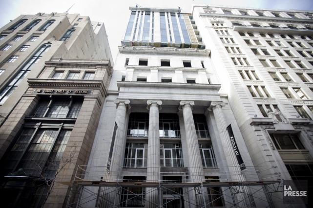 Les 43 appartements du Bank sont vendus, selon... (PHOTO MARCO CAMPANOZZI, LA PRESSE)