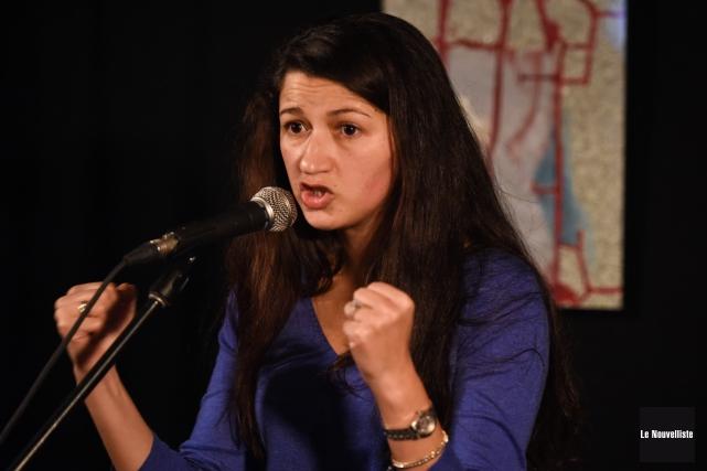 La journaliste du Charlie Hebdo Zineb El Rhazoui... (Photo: François Gervais Le Nouvelliste)