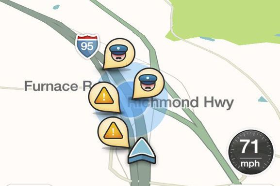 L'application de navigation automobile Waze, rachetée en 2013... (Photo Ted Bridis, AP)