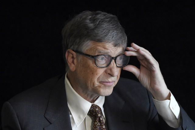 Bill Gates, qui participait mardi à Berlin à... (PHOTO TOBIAS SCHWARZ, AFP)