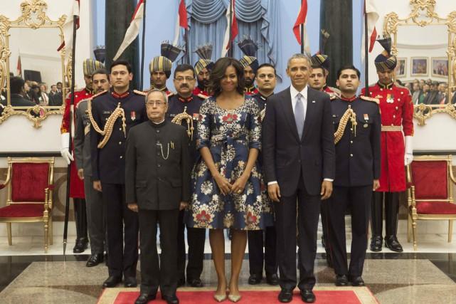 Ce cliché officiel semble sorti tout droit de... (PHOTO SAUL LOEB, AFP)