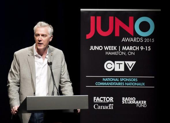 Allan Reid, président des Prix Juno, a annoncé... (La Presse Canadienne)