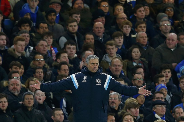 L'entraîneur-chef de l'équipe de Chelsea, Jose Mourinho... (Photo Eddie Keogh, Reuters)