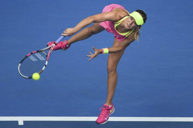 Eugenie Bouchard en Australie... (AFP, William West)