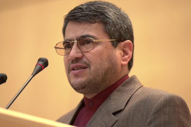 Gholam-Ali Khoshrooest actuellement ambassadeur d'Iran en Suisse, où... (PHOTO JEAN-PIERRE CLATOT, AFP)