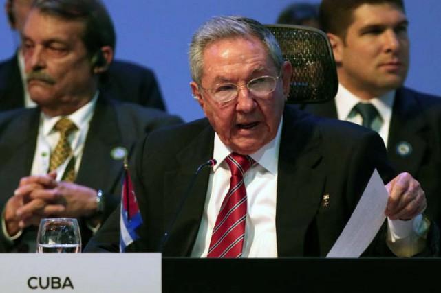 Raul Castro s'est exprimé mercredi pour la première... (Photo: AFP)