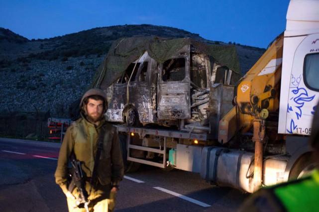 L'armée israélienne a affirmé qu'un véhicule militaire Iphoto)... (Photo: AFP)