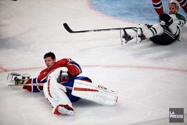 Carey Price est entré en collision avec Alex... (Photo: André Pichette, La Presse)