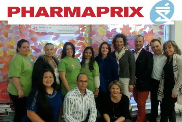 Les pharmaciens-propriétaires Pharmaprix de l'Ouest-de-l'Île avec Nathalie Choo-Foo...