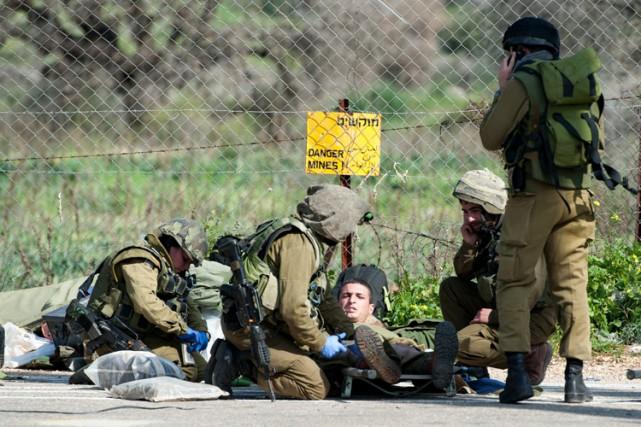 Mercredi, deux soldats israéliens ont été tués et... (Photo: AP)