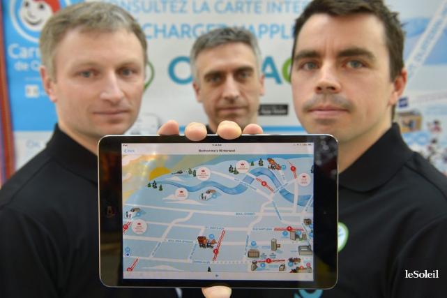 Martin Guay, Benoit Racine et Daniel Bart, tous... (Photo Yan Doublet, Le Soleil)