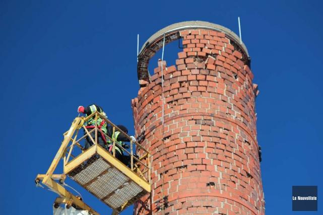 La cheminée de la chaufferie du Sanatorium, où... (Photo: Audrey Tremblay, Le Nouvelliste)