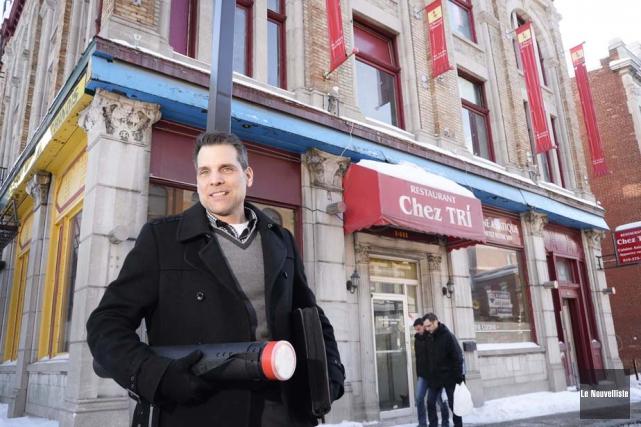 Gilles Babin compte transformer l'édifice de la rue... (Photo: Sylvain Mayer, Le Nouvelliste)