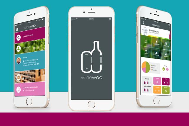 L'application mobile Winewoo, développée à Bordeaux, veut devenir... (Image tirée du site internet)