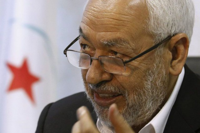 Le chef du parti islamiste Ennahda, Rached Ghannouchi.... (Archives, Reuters)