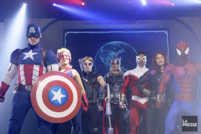 Captain America et ses amis combattront les méchants... (Photo tirée d'une vidéo, La Presse)