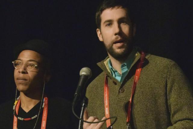 Les co-réalisateurs de(T)ERROR,Lyric R. Cabral et David R.... (PHOTO Michael THURSTON, AFP)