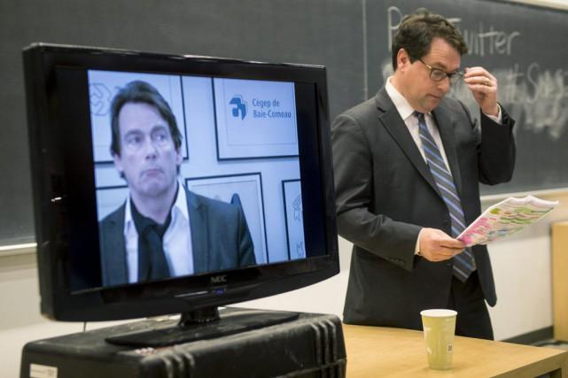 Pierre Karl Péladeau a participé au débat de... (Paul Chiasson, La Presse Canadienne)