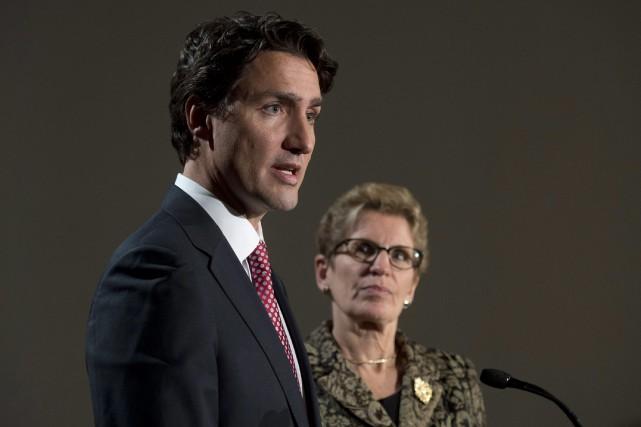 Le chef du parti libéral du Canada Justin... (PHOTO ADRIAN WYLD, LA PRESSE CANADIENNE)
