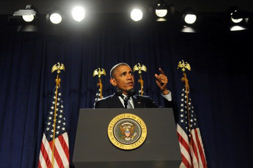 Le président Obama a plaidé pour mettre fin... (PhotoTom Gralish/The Philadelphia Inquirer/AP)