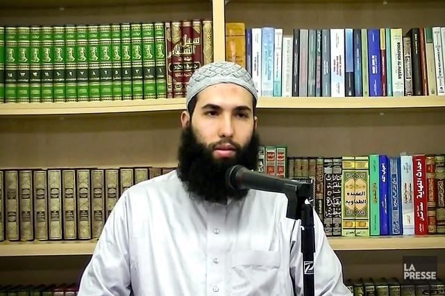 Hamza Chaoui, qui a déjà dirigé des prières... (Image tirée d'une vidéo Youtube)