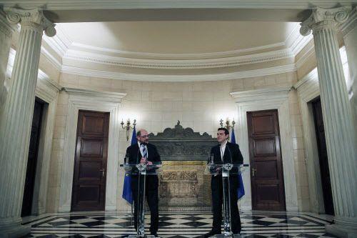 Le président du Parlement européen, Martin Schulz (à... (Photo Lefteris Pitarakis, AP)
