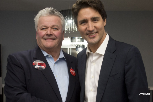 Tom Allen et Justin Trudeau... (Imacom, Julien Chamberland)
