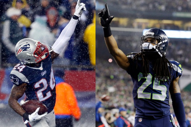Darrelle Revis, des Patriots, et Richard Sherman, des... (Photos AP)