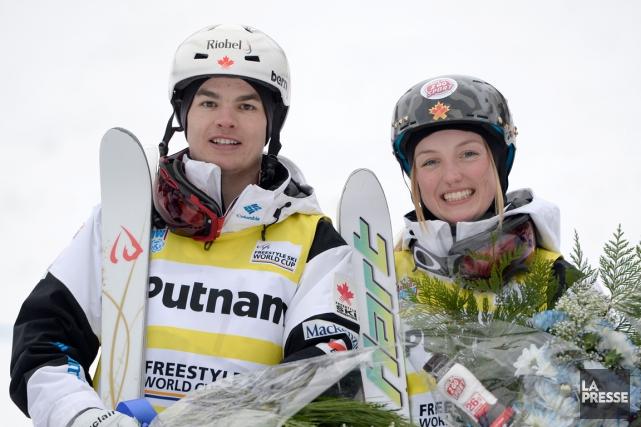 Mikaël Kingsbury et Justine Dufour-Lapointeont remporté l'épreuve de... (Archives La Presse, Bernard Brault)
