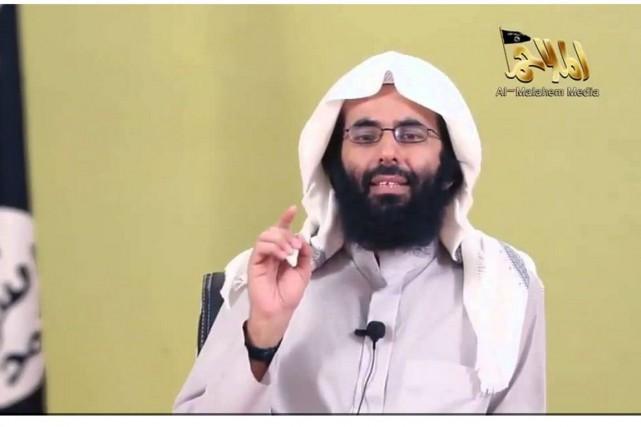 Le chef idéologique d'Aqpa,Ibrahim al-Rubaish, croit que«la France... (Image tirée d'une vidéo de Al-Malahem)