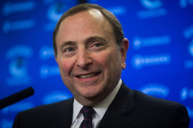 Le commissaire de la ligue nationale, Gary Bettman... (PHOTO DARRYL DYCK, LA PRESSE CANADIENNE)