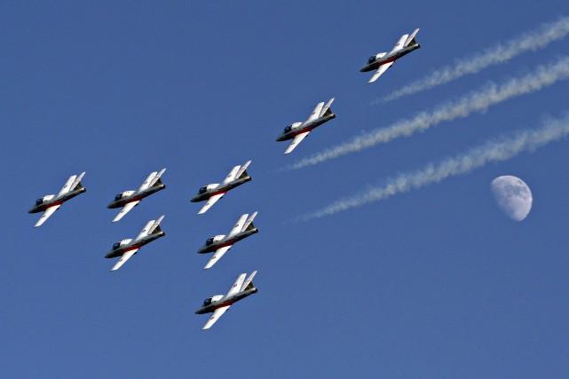 Les samedi et dimanche 20 et 21 juin, l'équipe de démonstration aérienne des...