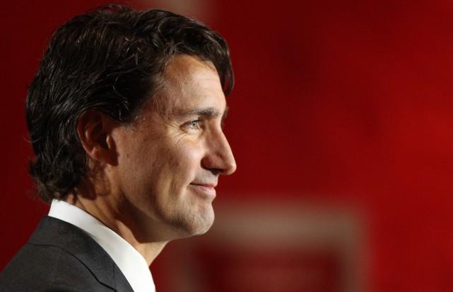 Le chef du parti libéral du Canada, Justin... (PHOTO DAVE CHIDLEY, LA PRESSE CANADIENNE)