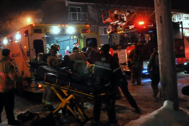 Deux enfants de quatre et sept ans sont décédés dans un incendie hier soir,... (Collaboration spéciale, Éric Beaupré)