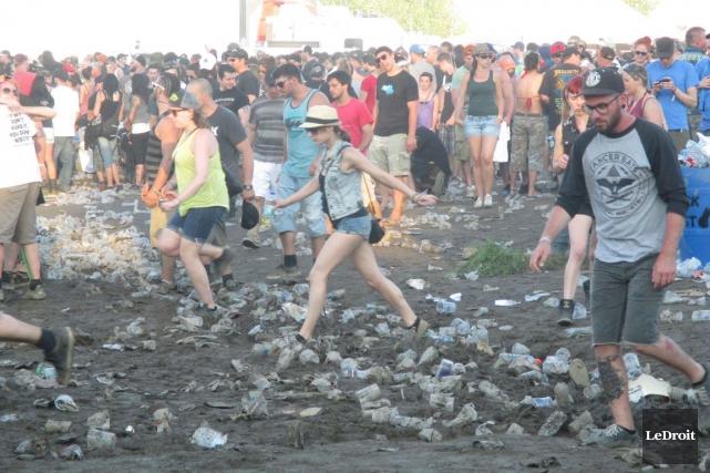 Le débordement qui s'est produit au Rockfest en... (Archives, LeDroit)