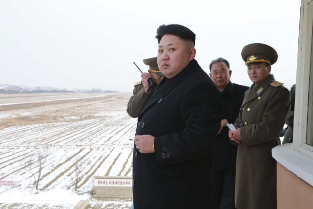 Kim Jong-Un a affirméqu'il était « (...) hors... (PHOTO REUTERS/KCNA)