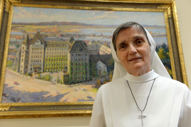 Soeur Berthe Lemay, supérieure de l'ordre des Augustines,... (Photo Le Soleil, Erick Labbé)