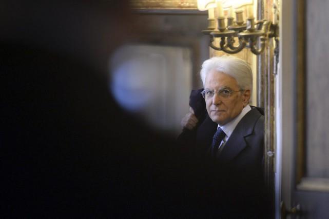 Le président italienSergio Mattarella... (PHOTO FILIPPO MONTEFORTE, ARCHIVES AFP)