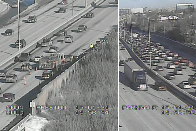 Une collision impliquant plusieurs véhicules a perturbé la circulation sur... (Ministère des Transports de l'Ontario)