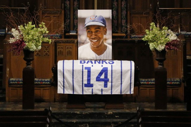La carrière d'exception d'Ernie Banks lui a valu... (Photo Charles Rex Arbogast, AP)