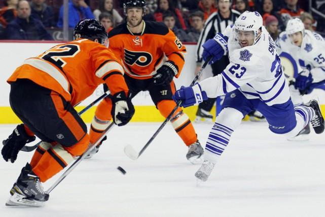 Les Maple Leafs amorçaient un séjour de trois... (Photo Tom Mihalek, AP)